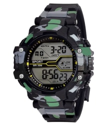 Grandson Army Color Print Black Digital Watch For Boys & Girls above 8 years of age.