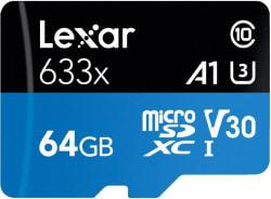 Lexar 633X 64 GB MicroSDXC Class 10 95 Mbps Memory Card
