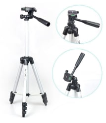 DEFLOC 3110 Portable and Foldable Camera - Tripod with Mobile Clip Holder Bracket, Stand with 3-Dimensional Head