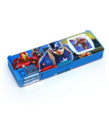 GOYAL® Multi Functional Favourite Character Pencil Box Wih Dual Sharpner , Calculator and LED Light - Avengers