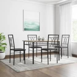 @home by Nilkamal Kimmy Engineered Wood 4 Seater Dining Set(Finish Color - Chocolate)