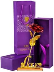 VIRSAA Artificial Flower Gift Set