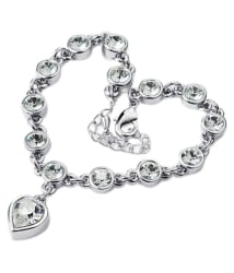 Amour New Fashion Silver Plated Crystal Heart Bracelet: Buy Amour New Fashion Silver Plated Crystal Heart Bracelet Online in India on Snapdeal