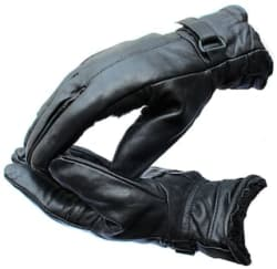JARS Collections Black Winter Faux Leather Gloves