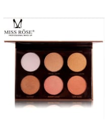 Miss Rose Glow Kit Nude Eyeshadow Palette 6 Shades