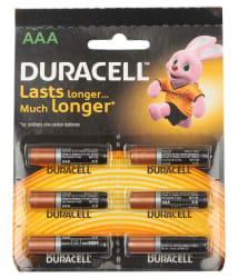 Duracell Alkaline Battery Aaa 6 S With Duralock Technology -6 Pcs