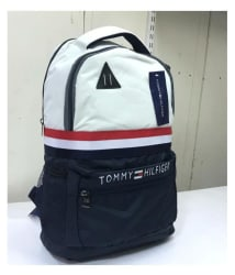 Tommy Hilfiger White Polyester College Bags Backpacks Gents Bag Carry Bag Men- 22 Ltrs Tourist Bag