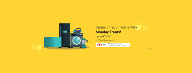 HSBC Credit and Debit Card Offer on TV & Appliances Every Monday