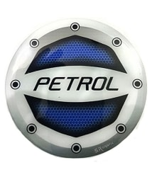 Car Petrol Inside Fuel Lid/Tank Round Decal/Badge/Sticker Printed for All Cars - Blue