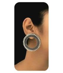 Jewels Kafe German Silver Afgani Tribal Dangle Earrings for Girls & Women