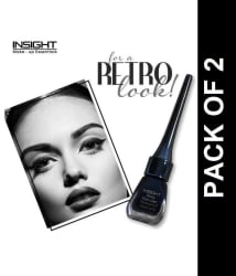 Insight Shiny Waterproof & Smudge-proof Liquid Eyeliner 24 Hrs Black 5 ml Pack of 2