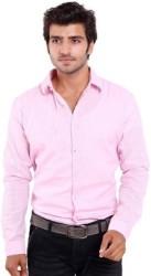 Deeksha Men Solid Casual Pink Shirt
