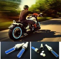 Universal Car / Bike s Accessories Tyre LED Fog Light for Valve Cap with Motion Sensor (Set of 2) - Magic Lights
