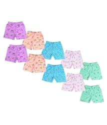 Sathiyas Akash 100% Cotton Printed Unisex Baby Drawer s - Pack of 10