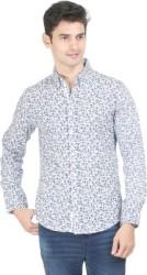 Flippd Men Printed Casual Blue, White Shirt