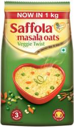 Saffola Veggie Twist Masala Oats 1 kg, Pouch
