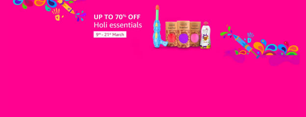 Holi Store: Get Special Holi Offers on Water Colours, Pooja Articles, Water Guns, Pichkaris and more – Amazon.in