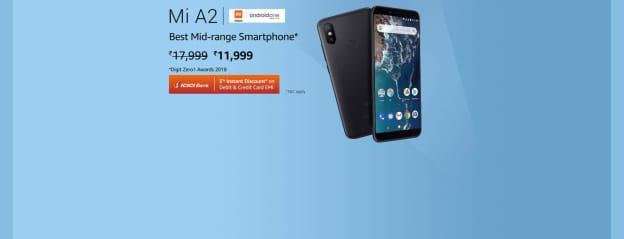 Mi A2 (Black, 4GB RAM, 64GB Storage): Electronics