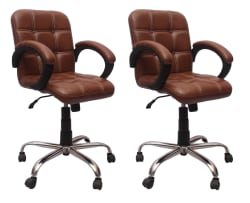 VJ Interior Leatherette Office Arm Chair COMBO/Set - Buy VJ Interior Leatherette Office Arm Chair COMBO/Set Online at Best Prices in India on Snapdeal