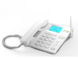 For F1+ Wireless Dual SIM GSM Landline Phone ( White )