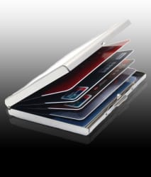 AmtiQ High Quality Steel Plain ATM Card Holder