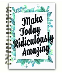 PayBook hardcover spiral Journal notebook - saving planner gratitude page wishlist exercise tracker habit builder life goals bucket list grocery list 160 activity and plain pages, 80 GSM B6 size, school office birthday gift and law of attraction organiser