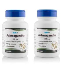 HealthVit ASHWAGANDHA Powder 250 mg Capsule 60 no.s Pack of 2