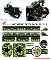 Just Rider Royal Enfield Bullet In Car Sticker