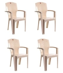 Cello Aristo High Back Chair Set of 4 in Beige colour - Buy Cello Aristo High Back Chair Set of 4 in Beige colour Online at Best Prices in India on Snapdeal