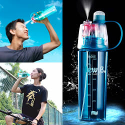 Cromoxome Outdoor Sports Spray Water Bottle 600ml Cycling Water Bottle- Multicolour