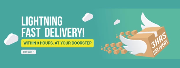 3 Hours Delivery