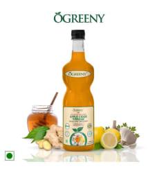 OGREENY Apple Cider Vinegar with Mother and Ginger Garlic Lemon Honey Health Drink Liquid 750 ml Mixed Fruit