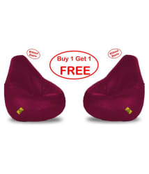 DOLPHIN Original XL BEAN BAG-MAROON -COVERS(Without Beans)-Buy One Get One Free - Buy DOLPHIN Original XL BEAN BAG-MAROON -COVERS(Without Beans)-Buy One Get One Free Online at Best Prices in India on Snapdeal