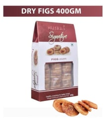 Nutraj Signature Dried Figs (Anjeer) 400g - Vacuum Pack