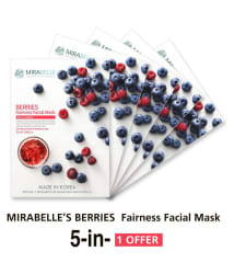 MIRABELLE KOREA Berries Fairness Face Mask Each 25 ml Pack of 5