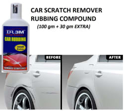 DR3M ALL Car & Bike Scratch Remover Compound to Remove / Hide Light Scratches - easy to use - 100 gm + 30 gm Free