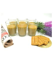 Satyam Kraft Glass Tea Cup 6 Pcs 100 ml