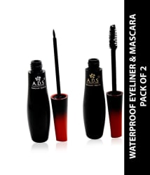 ADS Good Choice india Free Kajal with Eyeliner & Mascara Black 20 gm Pack of 2