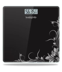 Healthgenie Electronic Digital Weighing Machine Bathroom Personal Weighing Scale - Black Pattern Black