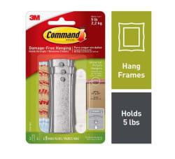 CommandTM Universal Picture Hanger Pack of 1-Hanger, 4 Large Strips, 2 Sets of Mini Strips