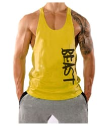 The Blazze M.en s Beast Tank Tops Muscle Gym Bodybuilding Vest Fitness Workout Train Stringersn