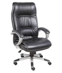 High Back Leatherette Office Chair in Black - Buy High Back Leatherette Office Chair in Black Online at Best Prices in India on Snapdeal