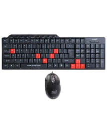 Quantum QHM-8810 Multimedia USB Wired Keyboard & Mouse Combo (Black)