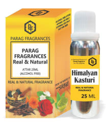Parag Fragrances Himalyan Kasturi Attar 25ml Value Pack Alcohol Free and Long Lasting