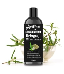 Aromine Organic BHRINGRAJ Herbal With ONION Oil Hair Treatment 100 ml