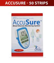 Dr Gene AccuSure 50 Sugar Test Strips Pack- Expiry June-2020