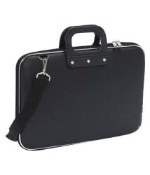 Trouper Black P.U Leather Office Laptop Bag Side Bags Leather Bag Shoulder Bag For men & Women- 15 Inch