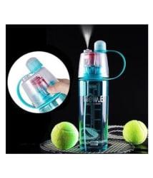 MISHREE Spray Water Bottle Blue 600 ml Plastic Water Bottle Set of 1
