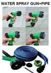Water Spray Gun 5 Mode With 10 Meter Hose Pipe For Garden / Car / Bike / pet Wash