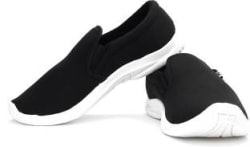 Bata Mushy Men Canvas Loafers For Men(Black)